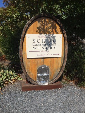Schug Carneros Estate Winery: the sign
