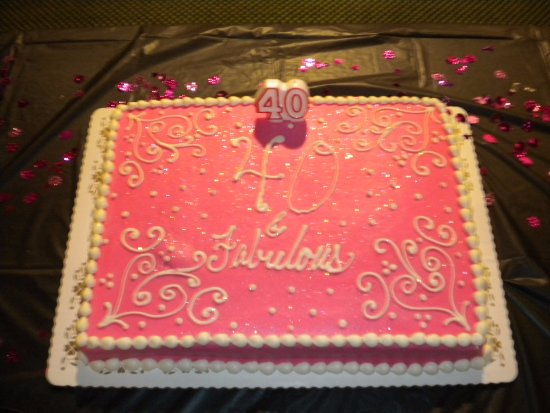 Trefzgers Bakery 40th Bday Cake