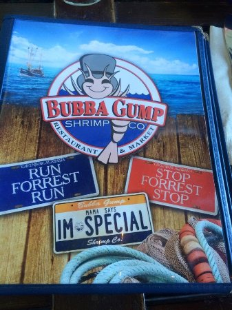 Bubba Gump Shrimp Co. : Menu