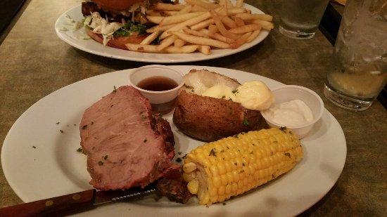 Bow, WA: Fish burger and end cut prime rib.. $9.95 each