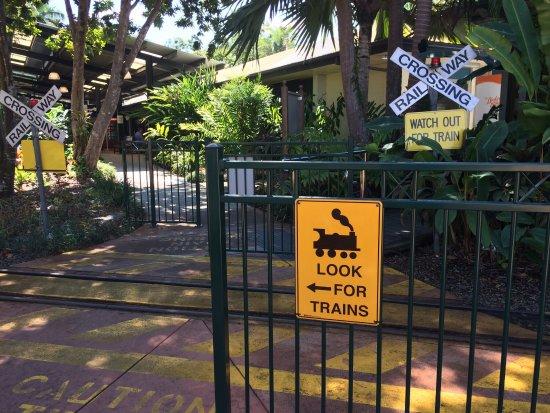Yandina, Australia: Train crossing