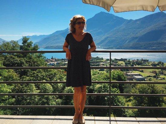 Alto Lago di Como: Our lovely hostess, Emanuela!