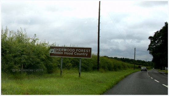 Nottinghamshire, UK: Road to Sherwood Forest