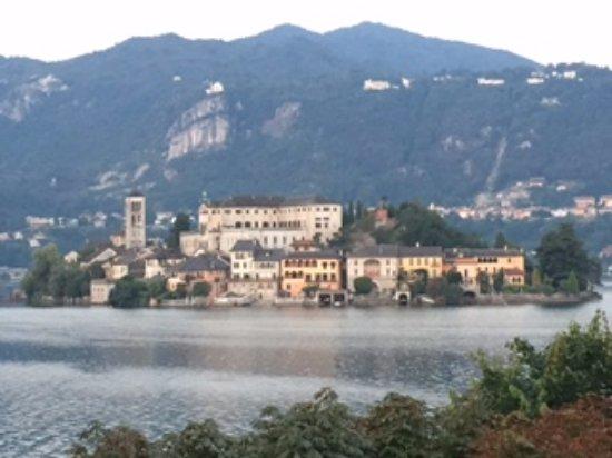 Piccolo Hotel Olina: View of island San Guiio outside our Hotel Olina apartment