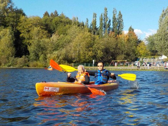 Burnaby, Canada: My 95yr old grandmother kayaking for the first time.