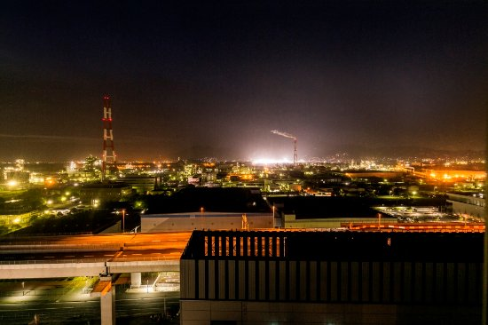 Nishitetsu Inn Kurosaki: 北九州工場夜景(11階・12階北側客室より)