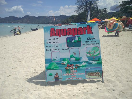 Aquapark sign