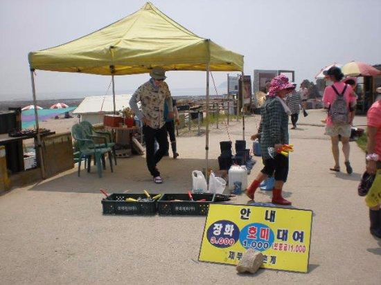 Hwaseong, Νότια Κορέα: 済扶島海岸砂丘~潮干狩りセット貸出店