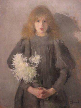 National Museum : Girl with Chrysanthemums - Olga Boznanska