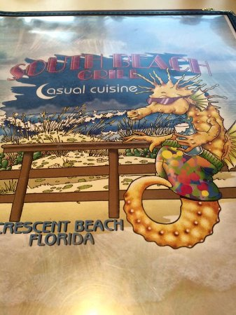 Crescent Beach, Флорида: South beach grill menu