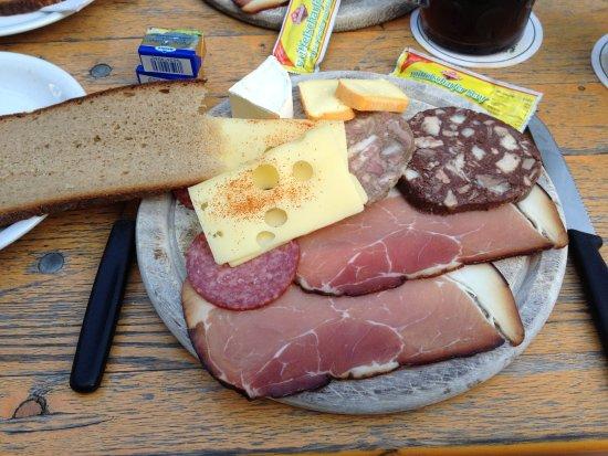 Aufsess, Alemania: Brottzeitplatte (Sonderwunsch Käse)