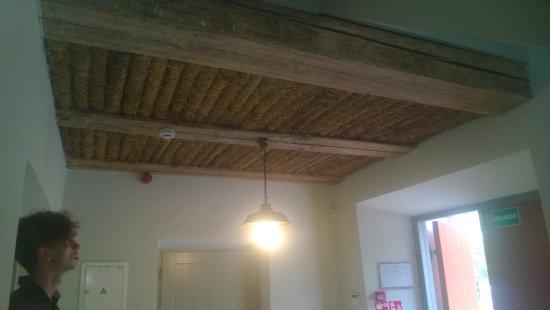 Ignalina, Lituanie : Hall avec le plafond en natte tressées d'époques