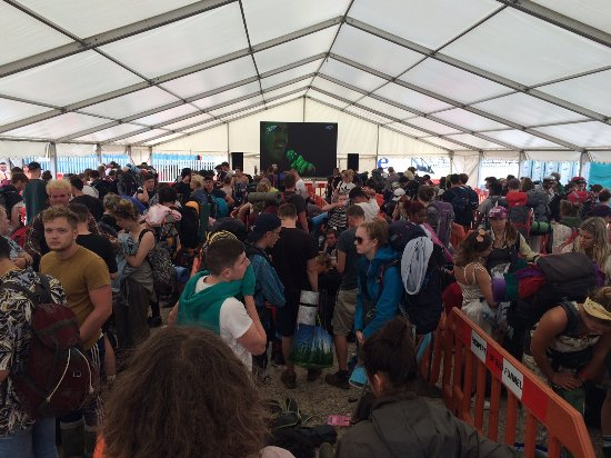 Red Funnel Ferries: Bestival 2016 - Giant TV showing highlights from the event for our guests waiting to return home
