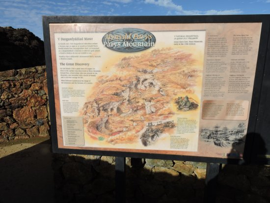 Amlwch, UK: Information Board for Parys Mountain