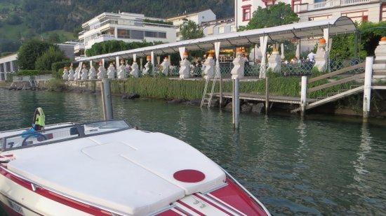 Hotel Vitznauerhof: Lauschiges Gartenrestaurant direkt am Wasser