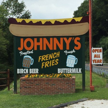 Hot Dog Johnny's: Can't miss sign!