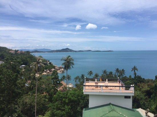 Ban Sua Samui: Aussicht von der Terrasse