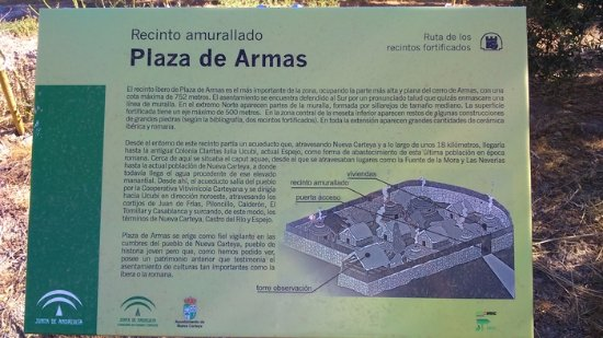 Nueva Carteya, Spain: Panel informativo del Recinto Plaza de Armas