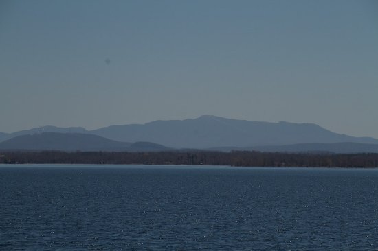 Point Au Roches State Park: View of Mount Mansfield, in Vermont