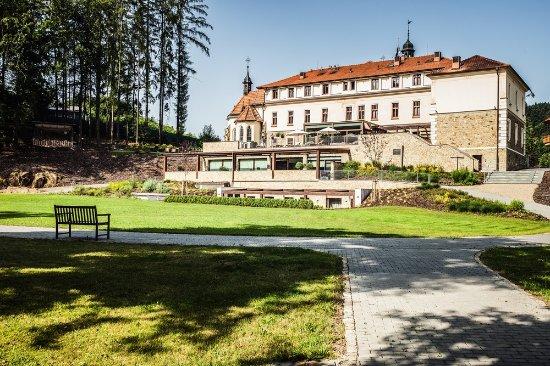 Luhacovice, Tjekkiet: View from the garden
