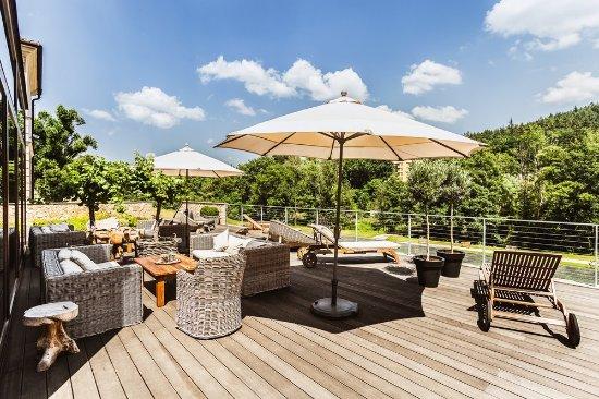 Wellness & Spa Hotel Augustiniansky dum : Outside terrace