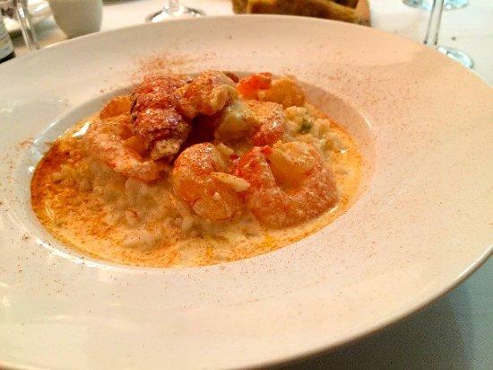 La Villa Mahana: Lobster and shrimp risotto