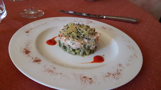Herepian, Γαλλία: tartare de saumon