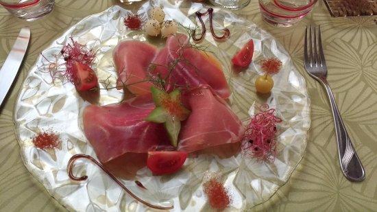 Margon, Francia: Entrée melon / jambon de pays