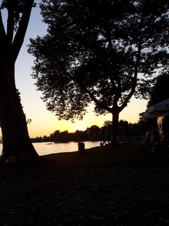 La Tour-de-Peilz, Suiza: Un coucher de soleil mi aout depuis la buvette....