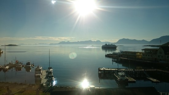 Harstad, Norveç: View from room at 4th floor. (morning)
