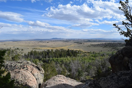 Lander, WY: A view over much of the area that we toured.