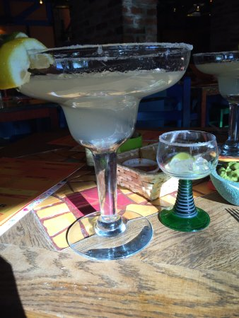 Blue Cactus: There are 2 sizes of margaritas - tiny and gigantic!