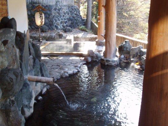 Yuzawa, اليابان: 鷹の湯、渓流の露天風呂