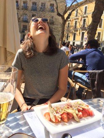 Eating at Naia on a warm spring day