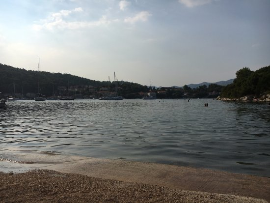 Korcula Waterfront Accommodation: View from the beach only 5 minutes from the house