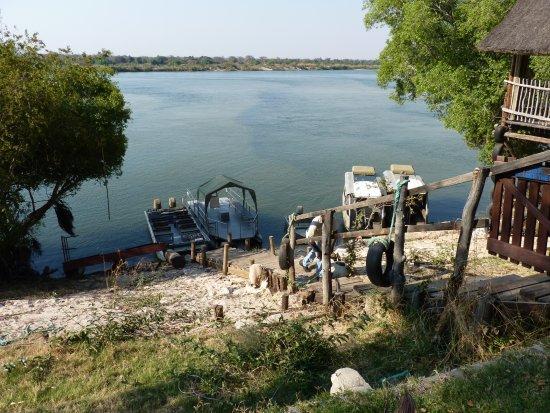 Katima Mulilo, Namibië: Blick vom Esstisch aus