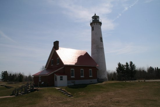 East Tawas, MI: Lighthouse at Tawas point.