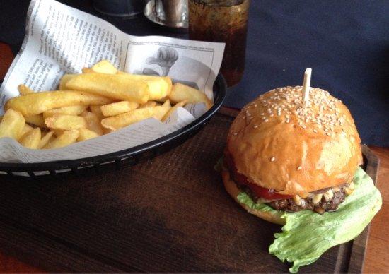 Suben, Austria: Blue Cheese Burger