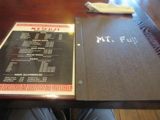 Milford, DE: Menu has good collection of items