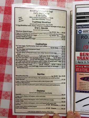 Ault, CO: Pictures of the menu