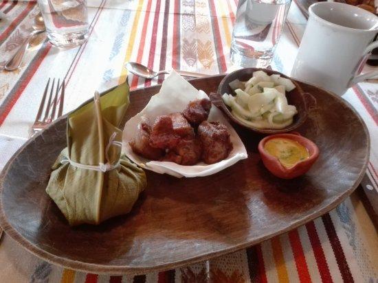Cosanga, Ecuador: Leckeres Essen.