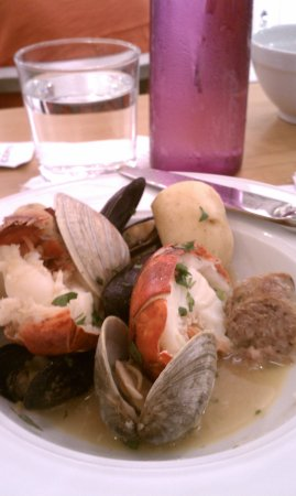 York, ME: 7/2016 Little neck clams, sausage, lobster