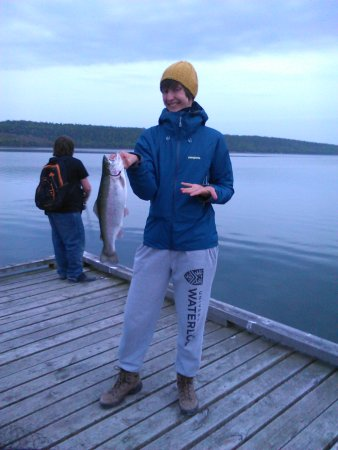 Silver Birches Resort: Fishing off the main dock