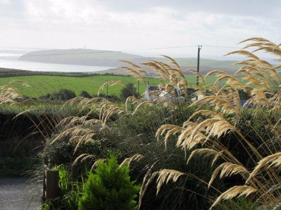 Drummore, UK: View from front room over to lighthouse