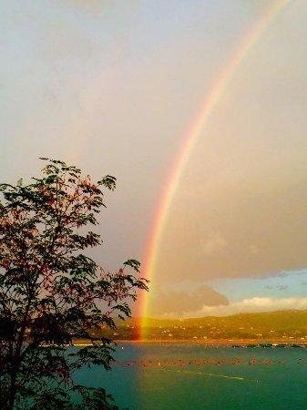 Kanegra, โครเอเชีย: A rainbow that appeared one afternoon at during dinner