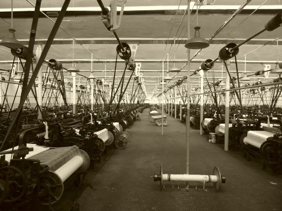 Queen Street Mill Textile Museum: weaving shed