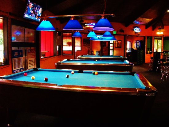 Boring, OR: Pool Tables one South side of the bar