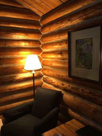 Jenny Lake Lodge: It's a REAL log cabin you sleep in. Very cozy!