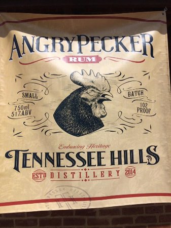 Jonesborough, TN: Angry Pecker Rum sign