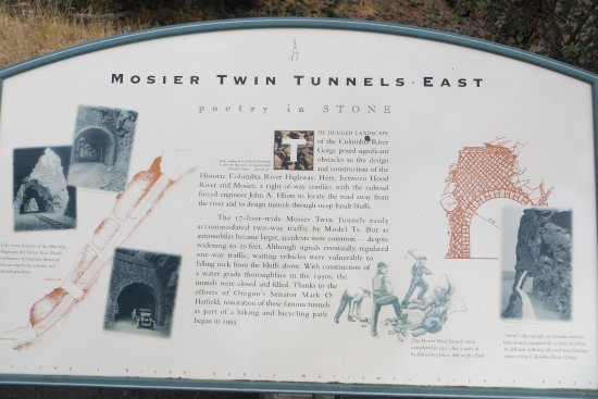 Sign. Mosier Twin tunnel, Mosier, OR